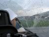Landung im Regen